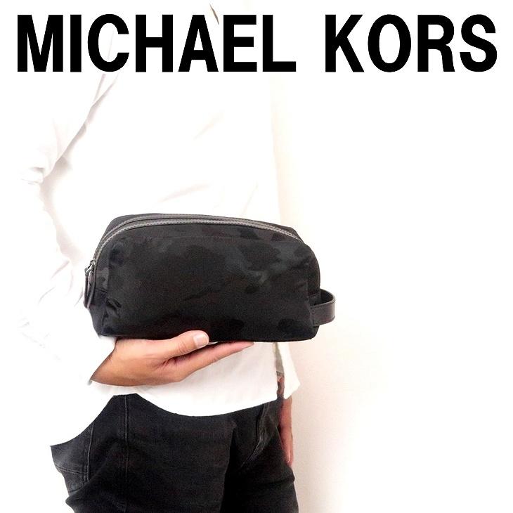 マイケルコース MICHAEL KORS バッグ メンズ クラッチバッグ トラベル セカンド ポーチ カモフラージュ カモ 迷彩柄 36T7LKNV1U-BLK ブランド 人気