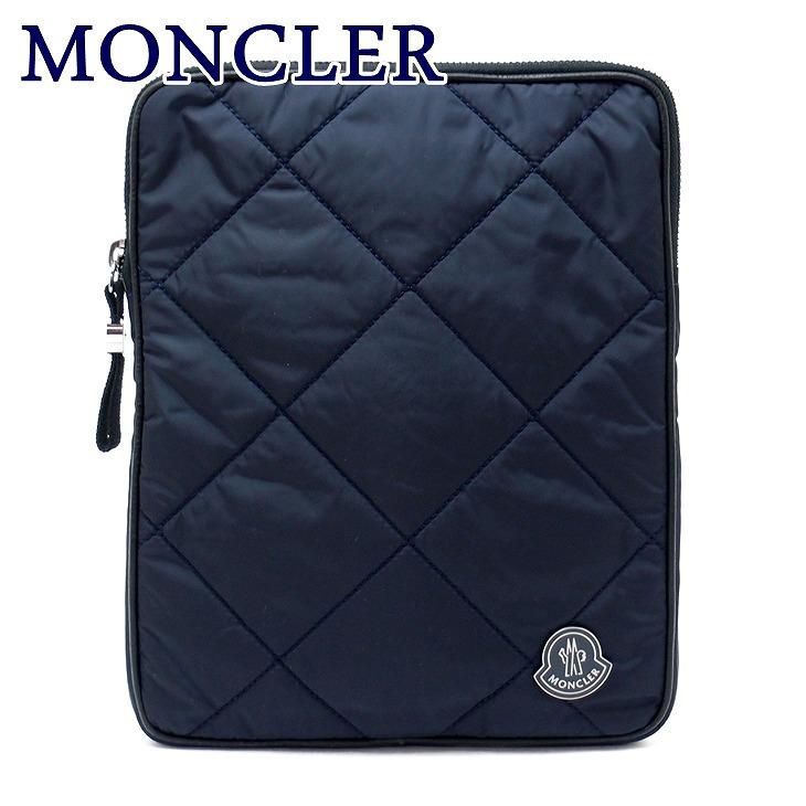 モンクレール バッグ MONCLER セカンドバッグ メンズ ダウン ポーチ クラッチバッグ ロゴ A008190054164-743 ブランド 人気