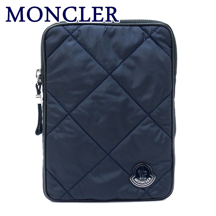 モンクレール バッグ MONCLER セカンドバッグ メンズ ダウン ポーチ クラッチバッグ ロゴ A008200054164-743 ブランド 人気