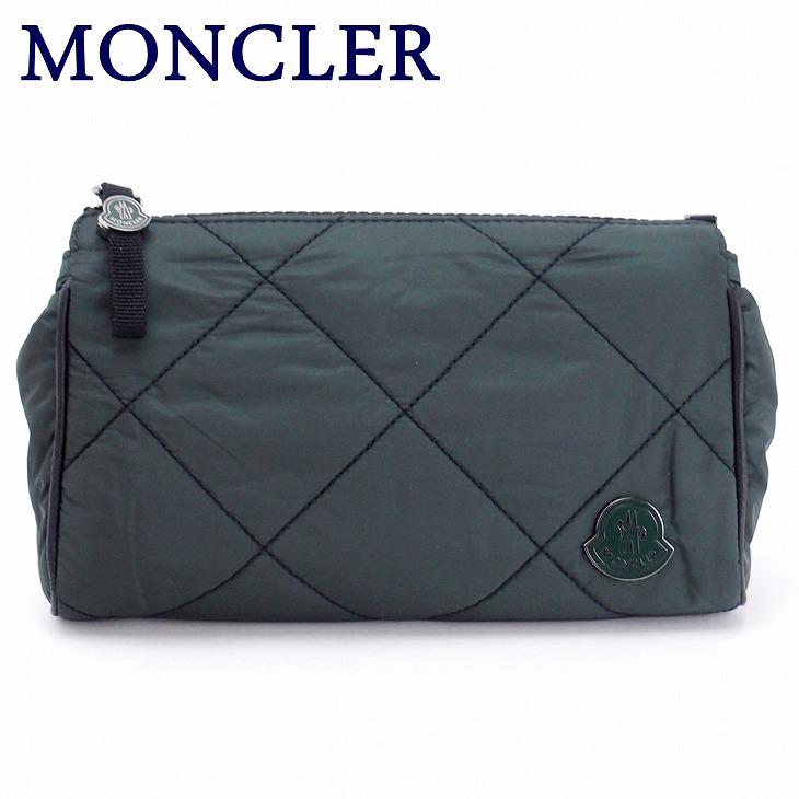 モンクレール バッグ MONCLER セカンドバッグ メンズ ダウン ポーチ クラッチバッグ ロゴ A008210054164-876 ブランド 人気 誕生日 プレゼント ギフト