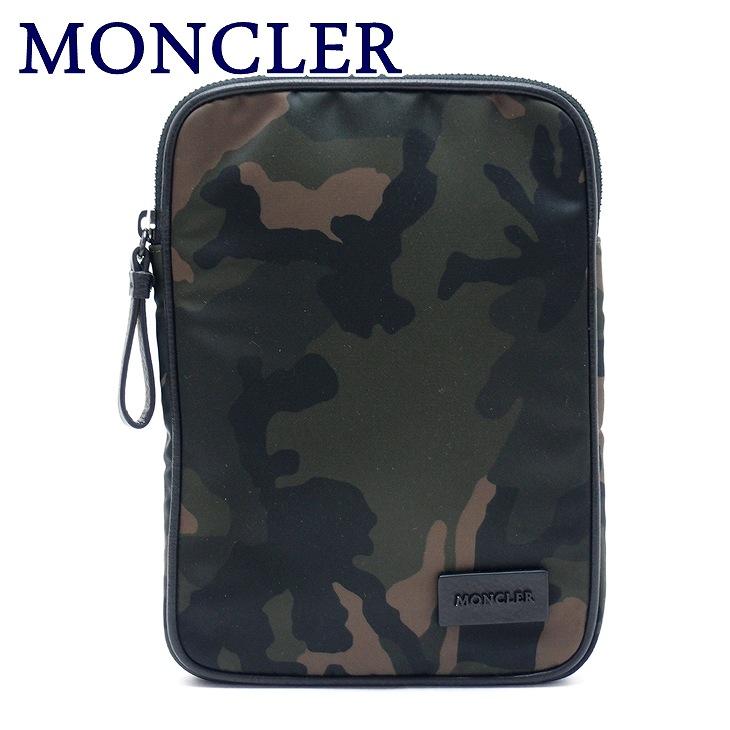 モンクレール バッグ MONCLER セカンドバッグ メンズ ダウン ポーチ クラッチバッグ ロゴ A500170057959-828 ブランド 人気