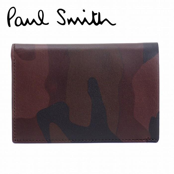ポールスミス 財布 メンズ カードケース 名刺入れ カモフラージュ柄 迷彩柄 レザー AKXX1069-W587 ブランド