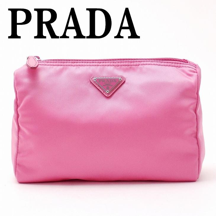 プラダ PRADA ポーチ コスメポーチ 化粧ポーチ GERANIO ピンク 1NA011-2BQP-F0410 ブランド 人気