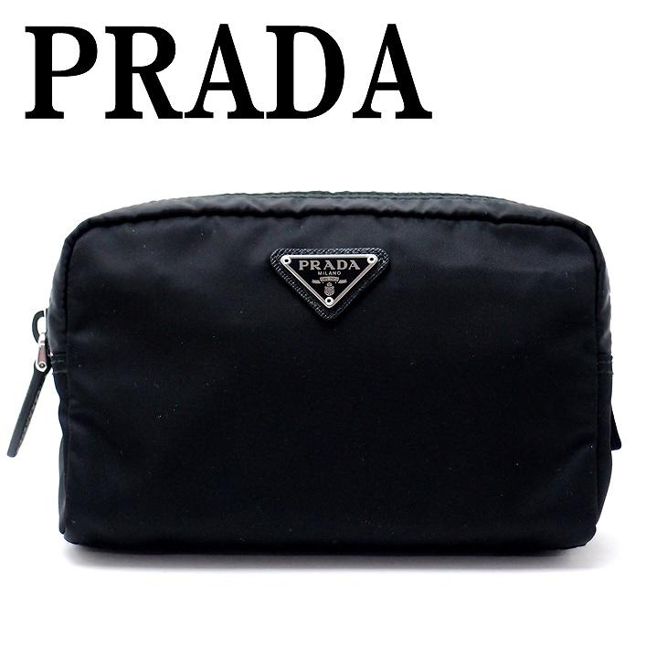 プラダ PRADA ポーチ コスメポーチ 化粧ポーチ 小物 ロゴ 1NA021-2BQP-F0002 ブランド 人気