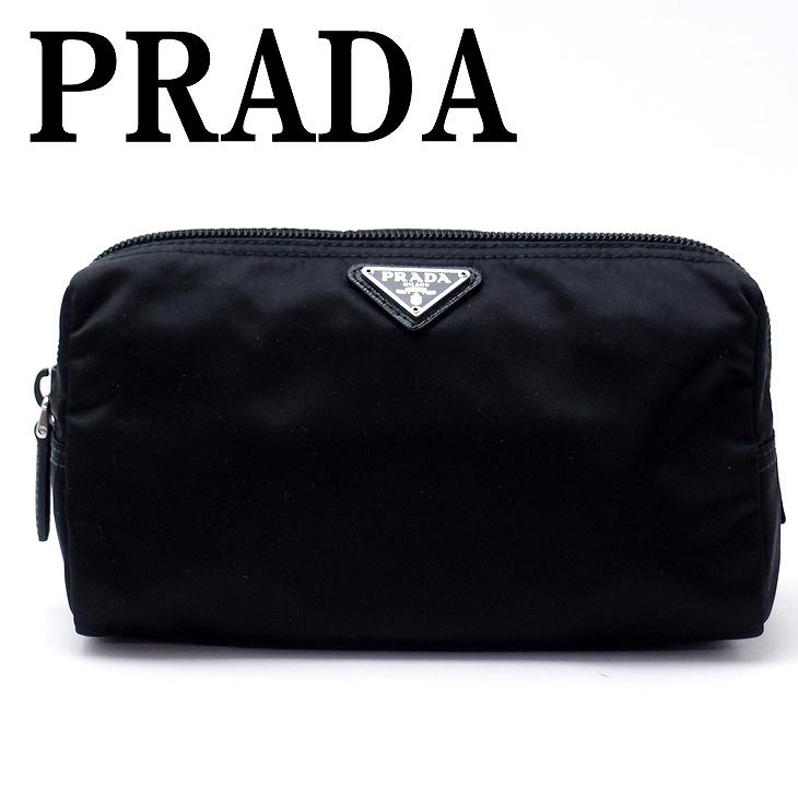 プラダ PRADA ポーチ コスメポーチ 化粧ポーチ ブラック 黒 小物 ロゴ 1NA693-2BQP-F0002 ブランド 人気