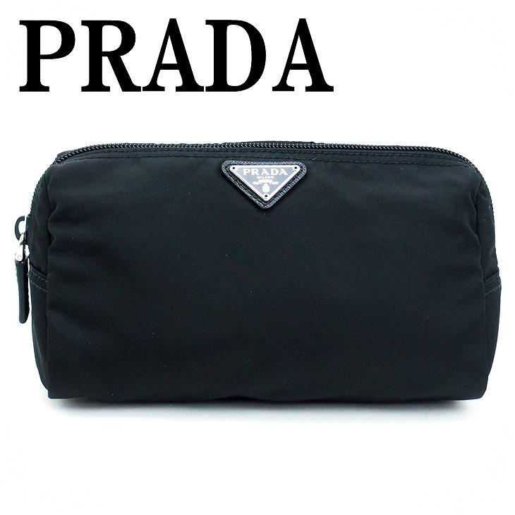 【イタリア買付】プラダ PRADA ポーチ コスメポーチ 化粧ポーチ ブラック 黒 小物 ロゴ 1NA693-ZMX-F0002 ブランド 人気