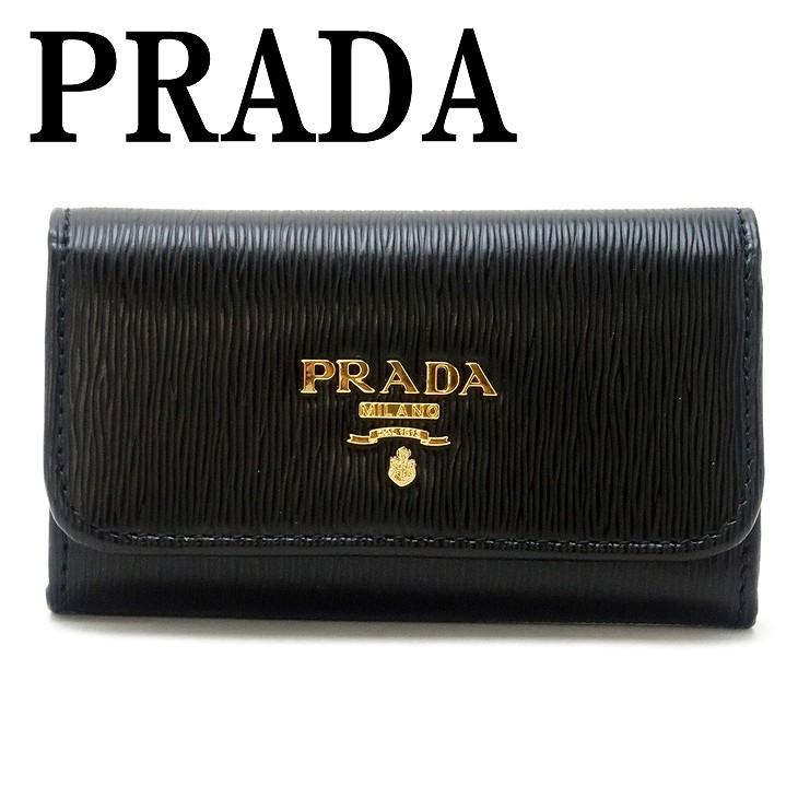 プラダ PRADA キーケース 6連 VITELLO MOVE NERO 黒 レディース 1PG222-2B6P-F0002 ブランド 人気