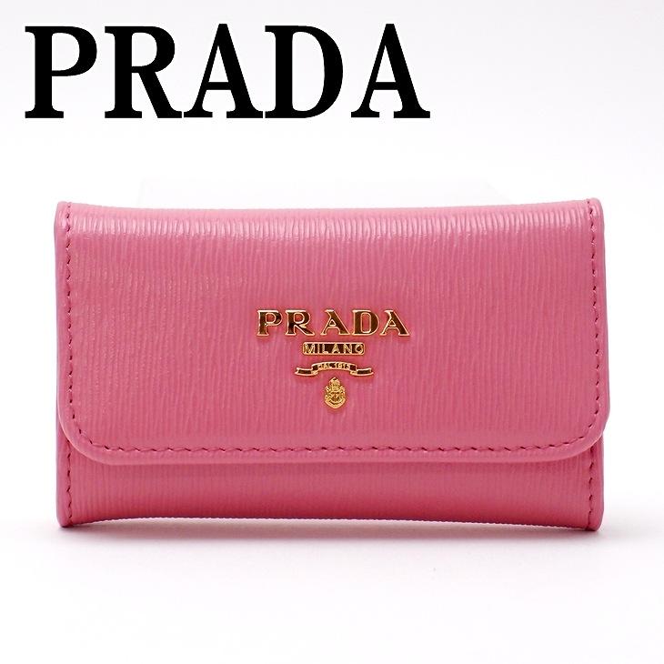 プラダ PRADA キーケース 6連 VITELLO MOVE GERANIO ピンク レディース 1PG222-2EZZ-F0410 ブランド 人気