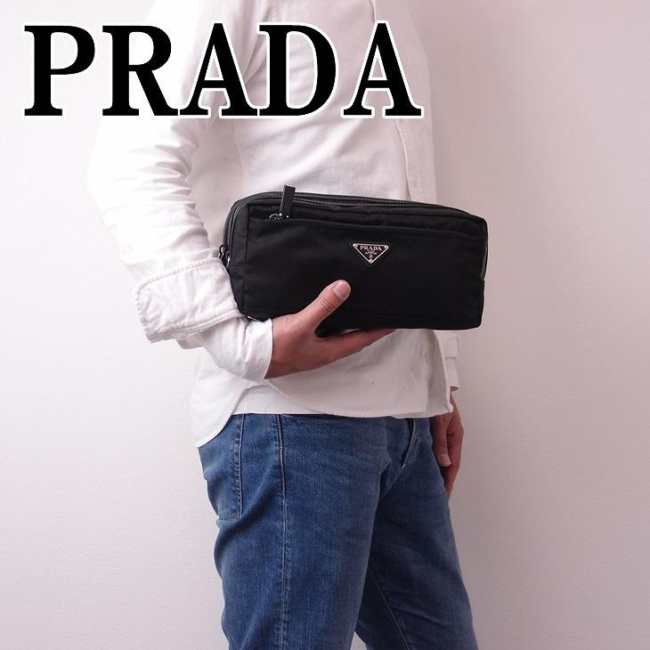 9ae6672b6e44 プラダ(PRADA)。待ってました。 大人の余裕を感じつ。Wファスナーセカンドバッグ。