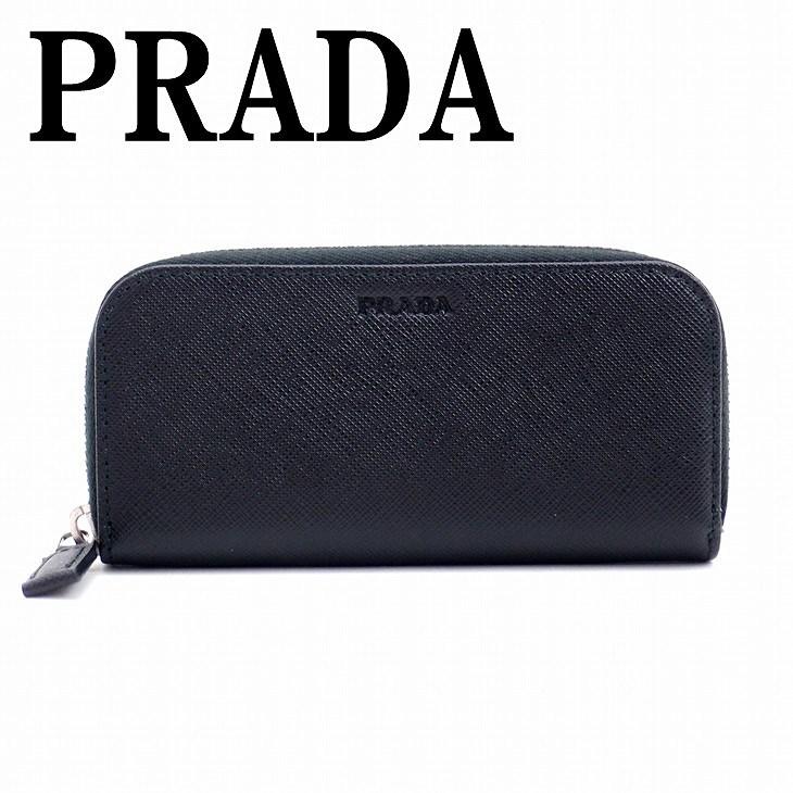 【イタリア買付】プラダ キーケース PRADA プラダ メンズ ラウンドファスナー NERO 黒 サフィアーノレザー 2PG604-PN9-F0002 ブランド 人気