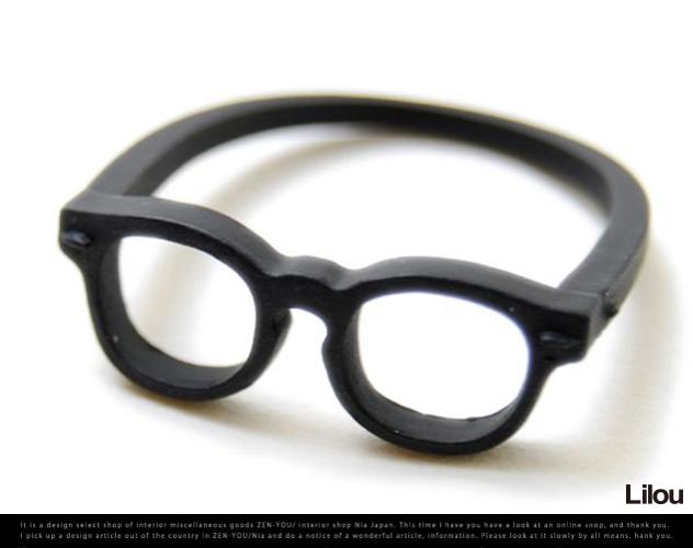 146c6f8ed19 zen-you  MEGANE RING wellington 17 mat bk   glasses Wellington No. 17 gold  Lilou Lil spectacles glasses eyeglasses eyes ring Jewelry Accessories