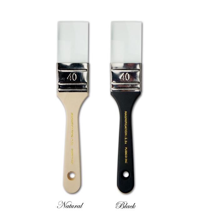 畫筆玻璃和油漆刷式 Mag 2 手指玻璃 PUEBCO pebco 放大鏡放大鏡眼鏡眼鏡放大鏡