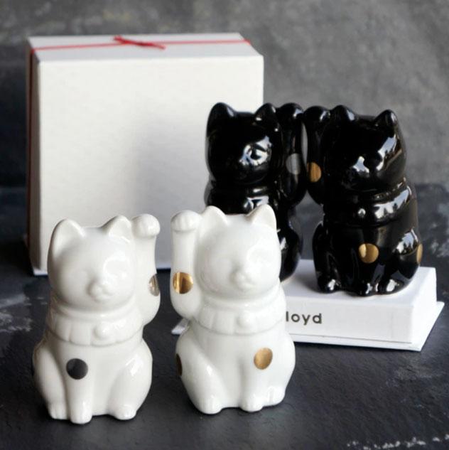 Fortune 新登場 Cat フォーチュン キャット Floyd 中古 フロイド 招き猫 御祝い 縁起物 置物 開店祝い 猫 新築祝い