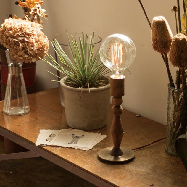 Table Light TORLE/ テーブルライト トーレ APROZ / アプロス WOOD レトロ電球 アンティーク エジソン球 置型照明 ライト 間接照明 照明 ランプ AZT-115-BR/NA