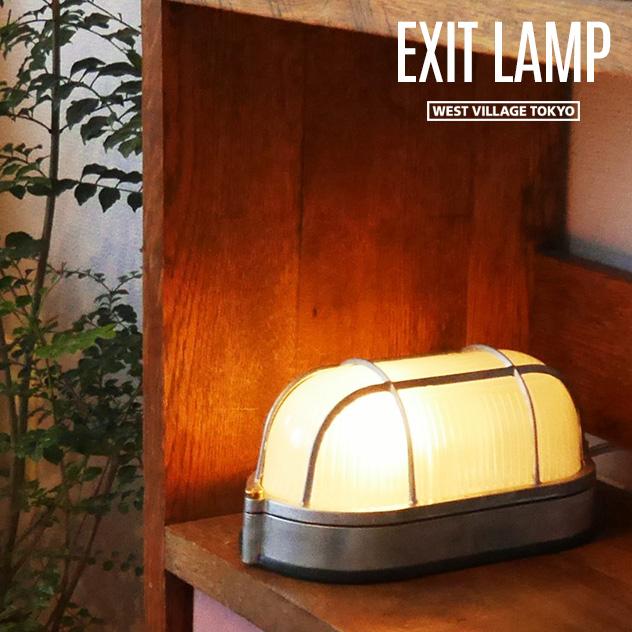 EXIT LAMP / エグジット ランプ WEST VILLAGE TOKYO (ウエストビレッジトーキョー) コンセント式 非常誘導灯 間接照明 照明 壁掛け ブラケットライト