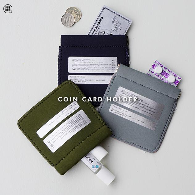 Seasonal Wrap入荷 COIN CARD HOLDER コイン カード ホルダー PUEBCO スリーブ プエブコ小銭入れ 卓抜 クレジットカードケース カードケース パスケース 定期入れ