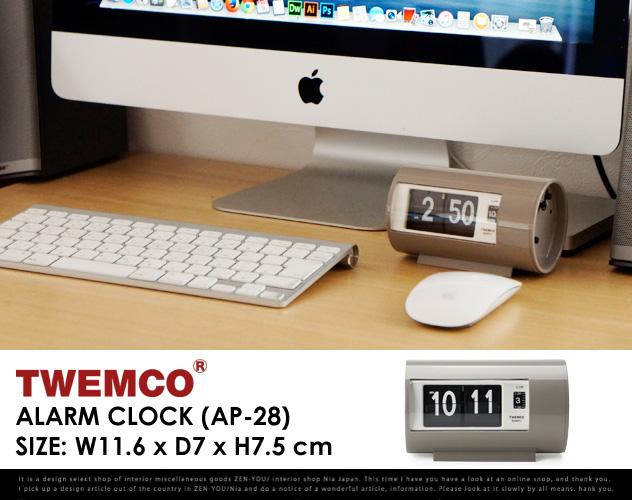 """有名ブランド Twemco Twemco Alarm Clock 置き時計 #AP-28 """"Gray""""/ トゥエンコ アラーム クロック DETAIL グレー パタパタ 時計 置き時計 クロック 時計 DETAIL【あす楽対応_東海】, 販促イベント屋:ec919d78 --- rki5.xyz"""
