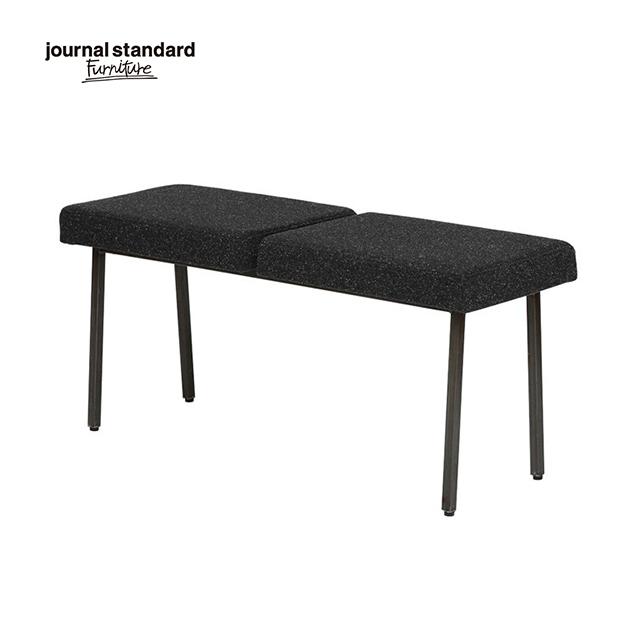 journal standard Furniture ジャーナルスタンダードファニチャー REGENT BENCH BK リージェント ベンチ 幅100cm ブラック 椅子 木製 布地 玄関 ナチュラル おしゃれ カフェ 北欧 ミッドセンチュリー 送料無料