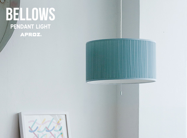 BELLOWS PENDANT / ベロー ペンダント ライト APROZ/ アプロス ライト 照明 ランプ 天井 AZP-559-BE/BL