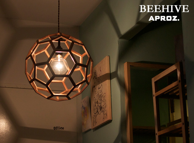 Beehive Wood Pendant Light And By Five Lights Aproz Aplus Honeycomb Lighting Lamp Ceiling Dining Solid Azp 568 Br