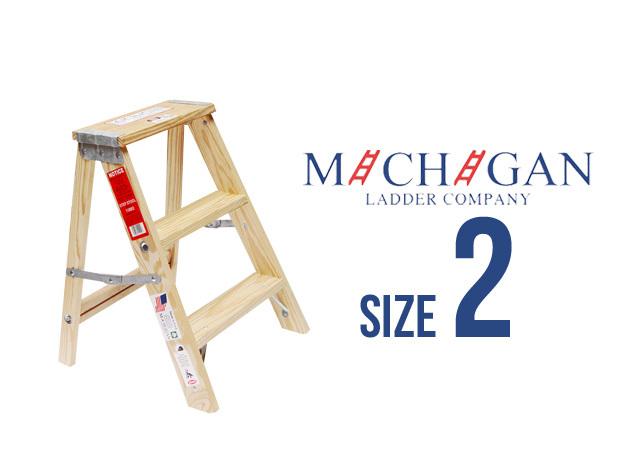 """【 木製 脚立 】Wood Step Ladder """"Size 2″ / ウッドステップラダー"""