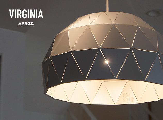 VIRGINIA 1P / バージニア 1灯 APROZ アプロス / ダイニング 照明 ライト 照明 ランプ 天井 ペンダントライト ジオデシック ドーム型AZP-622-BK/GRY