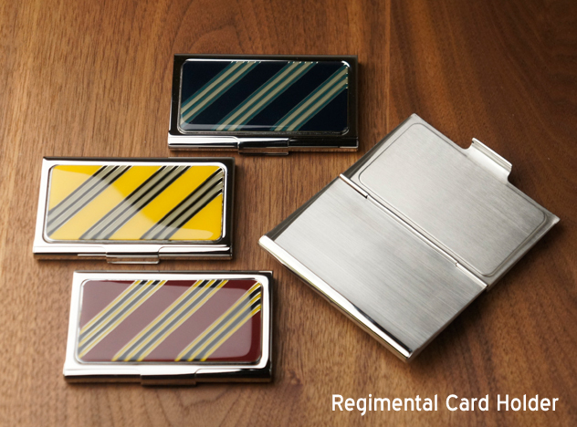 Regimental Card Holder / レジメンタル カードホルダー名刺 名刺入れ トラッド トラディショナル ケース カードケース GIFT SP