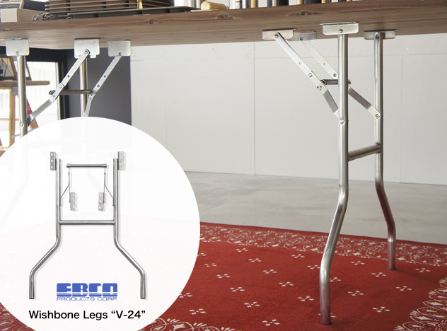 """【折りたたみテーブル用脚】Wishbone Legs """"V-24"""" / ウィッシュボーンレッグ"""