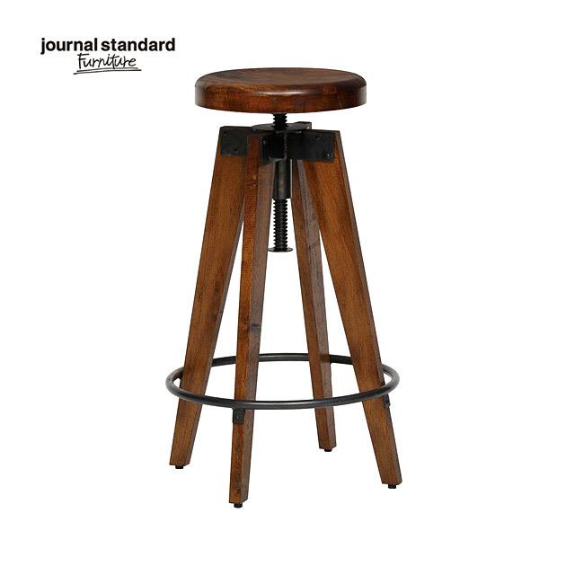 journal standard Furniture ジャーナルスタンダードファニチャー CHINON HIGH STOOL WOOD シノン ハイスツール ウッド 座面昇降 椅子 木製 什器 おしゃれ 店舗 ショップ カフェ 事務所 アパレル 北欧 ミッドセンチュリー 送料無料