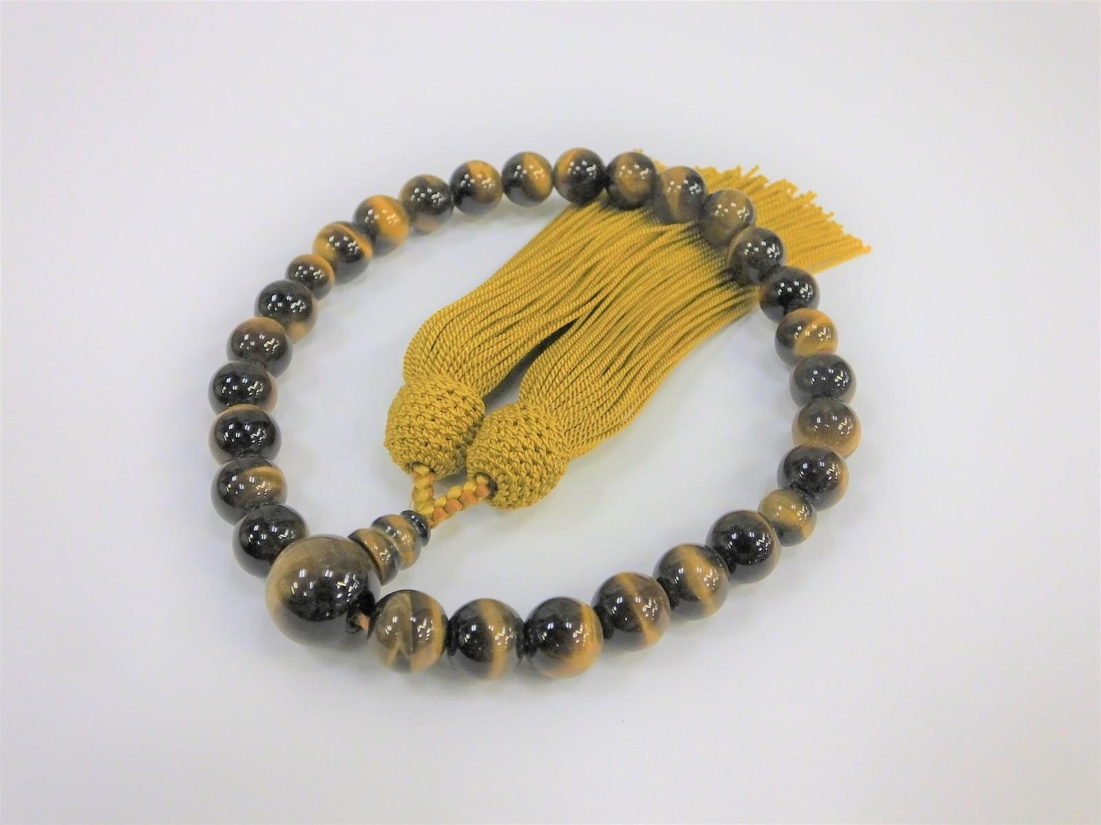 虎目石 男女兼用数珠