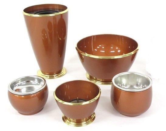 家具調モダン仏具5具足 ひびき 古銅色