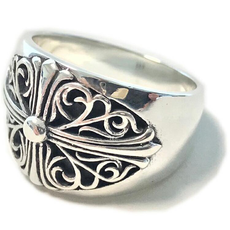 シルバー925 リング メンズ レディース フローラルクロスリング 17号 19号 アクセサリー 指輪 Ring 純銀 Silver925 WHITESTONE