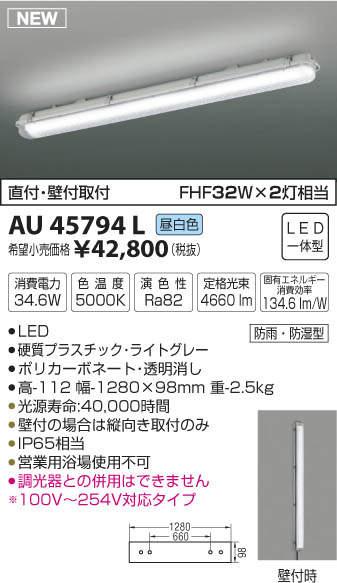 【LEDアウトドアライト】【昼白色 on-offタイプ】AU45794L