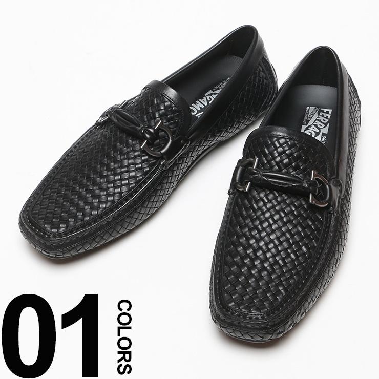 Salvatore Ferragamo (サルバトーレフェラガモ) ガンチーニ メッシュドライビングシューズ メンズ ブランド レザー シューズ 靴 紳士靴 ビジネス 【ROUND】