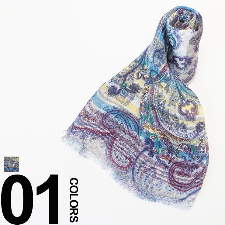 ETRO (エトロ) シルク混 ペイズリー柄ストール ブランド メンズ 11777-5027-400 ギフト プレゼント 柄物 スカーフ レディースカード分割