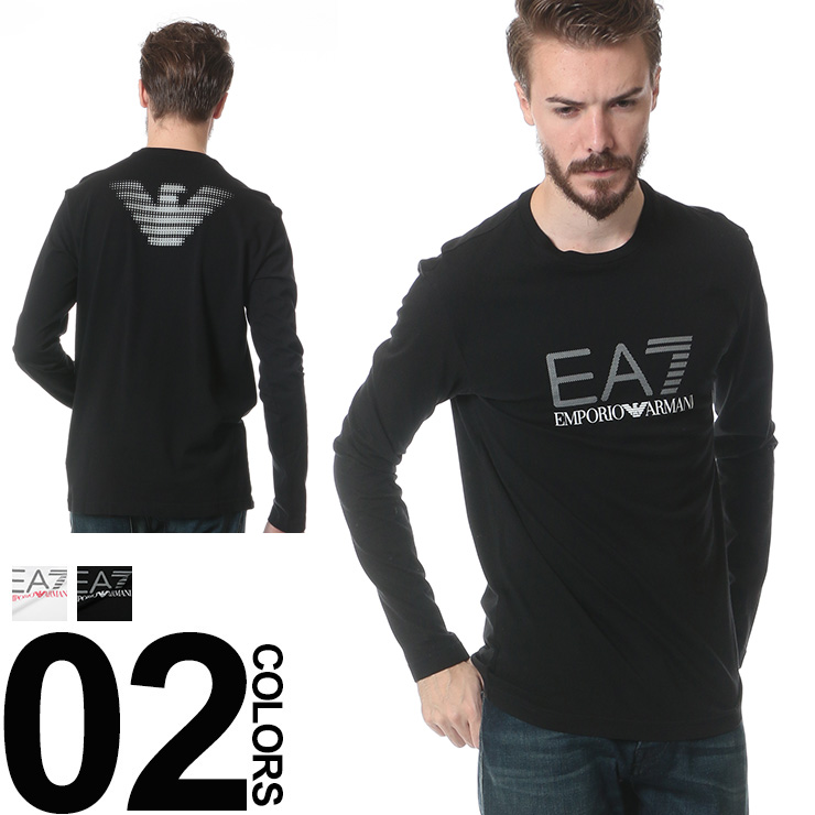 663bb8d8cf23 EMPORIO ARMANI EA7 (empolioarmanieaerseven) back Eagle logo crew neck long  sleeve t-shirt ...