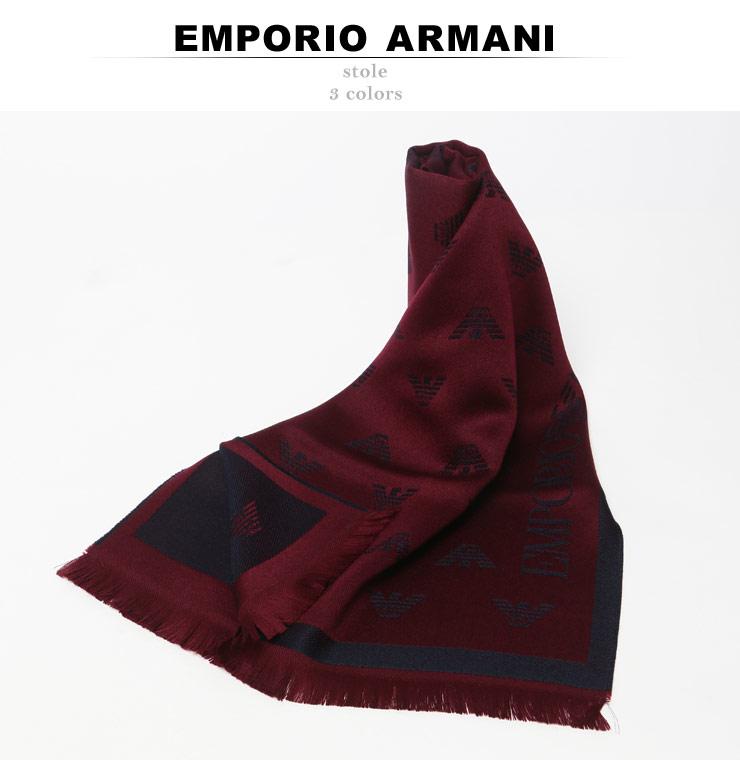 エンポリオアルマーニ EMPORIO ARMANI ウール 総ロゴ フリンジ マフラー EA6250097A3061 ブランドbvgf6m7yIY