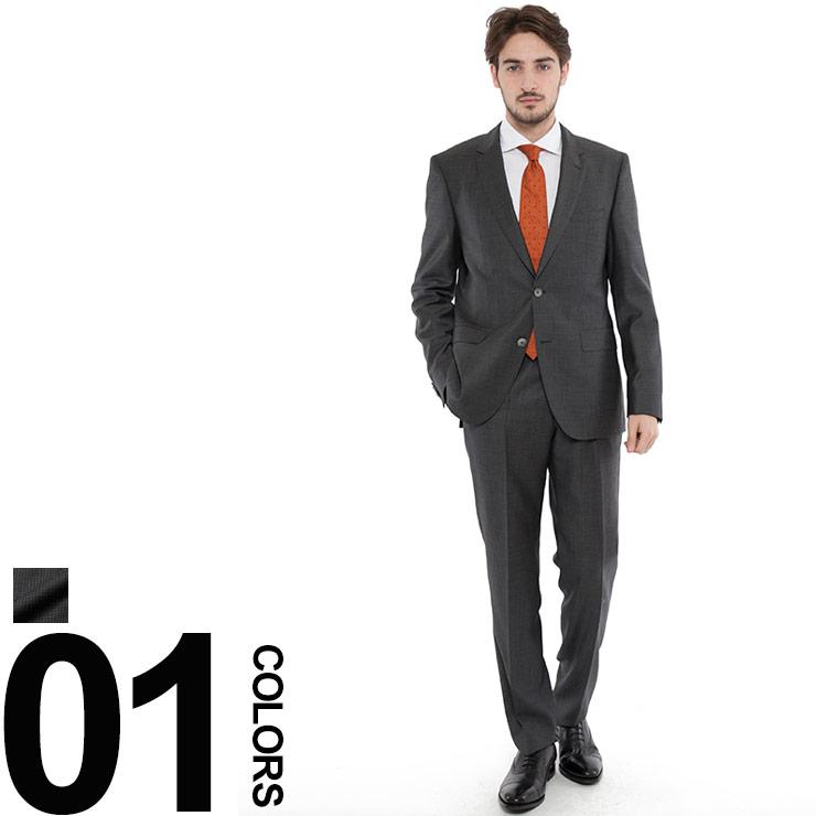 ヒューゴボス HUGO BOSS スーツ 2B ミニチェック ウール シングル S120 ブランド メンズ 紳士 ビジネス スーツ HBJS10202926 dl brand お礼 就職祝 喜寿祝