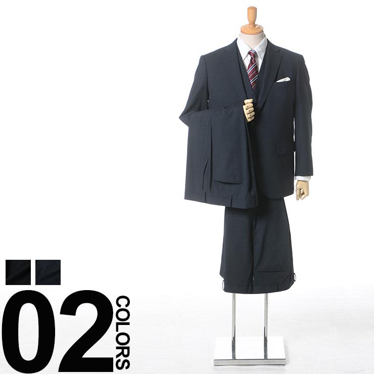 大きいサイズ メンズ VITTORIO VENETO (ヴィットリオヴェネット) ストレッチ ウール混 シャドーチェック シングル 2ツ釦 ノータック ツーパンツ ベスト付き スーツ 男性 ビジネス チェック シングルスーツ スリーピース