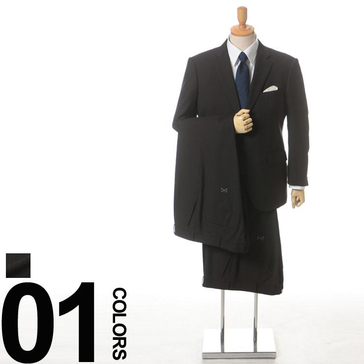 大きいサイズ メンズ HYBRIDBIZ (ハイブリッドビズ) HYBRIDBIZ MOVE 2WAYストレッチ パンツウォッシャブル ウール混 ピンストライプ シングル 2ツ釦 ワンタック ツーパンツ スーツ ビジネス シングルスーツ ストライプ 2パンツ ウール ウォッシャブル 防シワ性 機能性