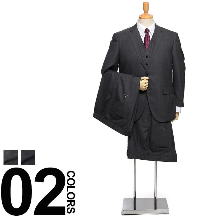 大きいサイズ メンズ TETE DUE (テットデュエ) ベスト付き シングル 2ツ釦 ノータック ツーパンツ スリーピース スーツ 18SS 紳士 男性 ビジネス ビジネス シングルスーツ 2パンツ ベスト