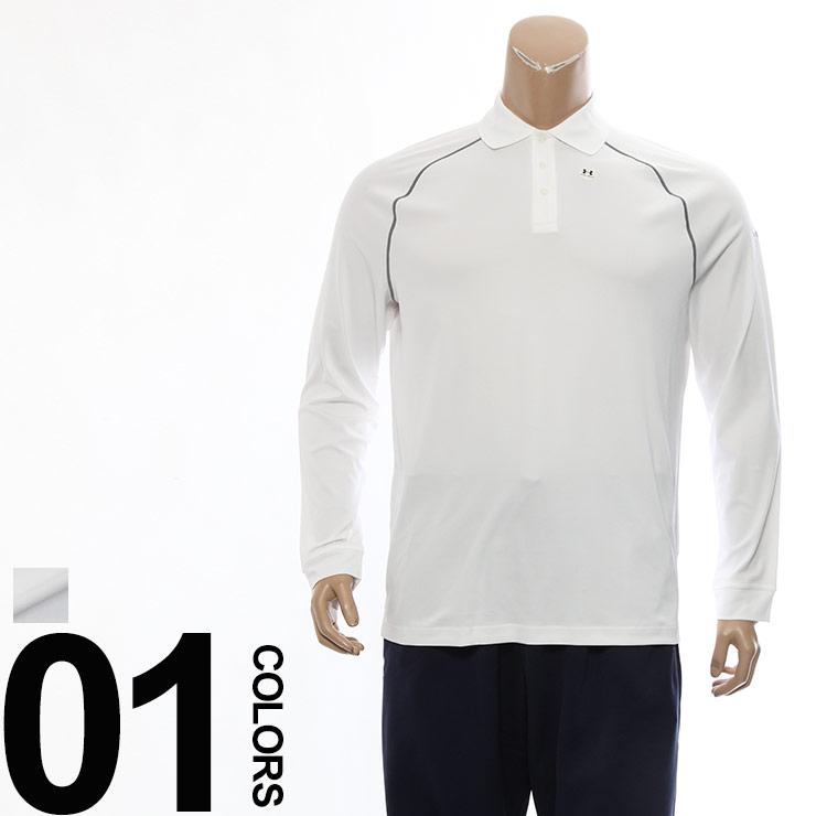 大きいサイズ メンズ UNDER ARMOUR (アンダーアーマー) heatgear ヒートギア クール ホワイト 長袖 ポロシャツ INTENT [1XL 2XL] サカゼン ビッグサイズ スポーツ トップス 長袖 シャツ トレーニングウェア ランニング