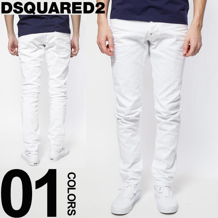 ディースクエアード DSQUARED2 ジーンズ ストレッチ ホワイト Bull Skater Jeans ブランド メンズ ボトムス D2LB0315S39781 【dl】brand