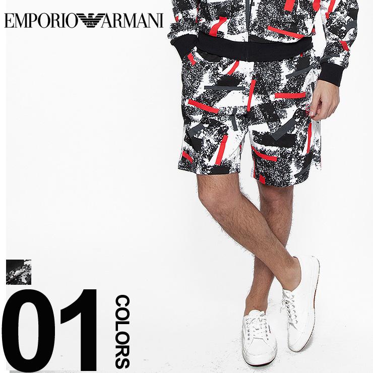 エンポリオアルマーニ EMPORIO ARMANI EA7 ショートパンツ スウェット ショーツ ジオメトリック ハーフパンツ ブランド メンズ EA3ZPS77PJA5Z