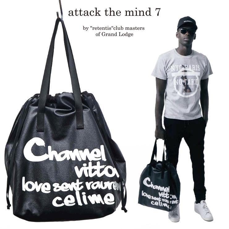 attack the mind 7 アタックザマインドセブン バッグ ATMB03-PV01-PVC SHOPING BAG(GRAFFITI PRINT)