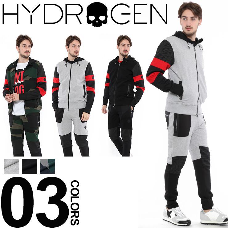 ハイドロゲン HYDROGEN セットアップ スウェット パーカー ブランド メンズ 上下セット HY225600SETUP 【dl】brand