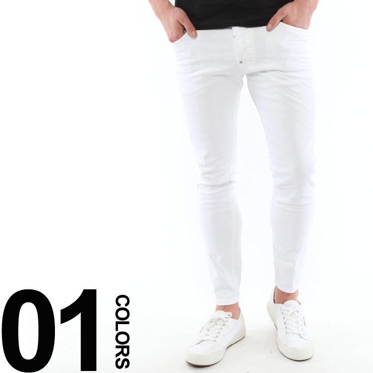 ディースクエアード DSQUARED2 ホワイトジーンズ ストレッチ アンクルカット WHITE ブランド メンズ パンツ ジーパン デニムパンツ D2LB0128S39781