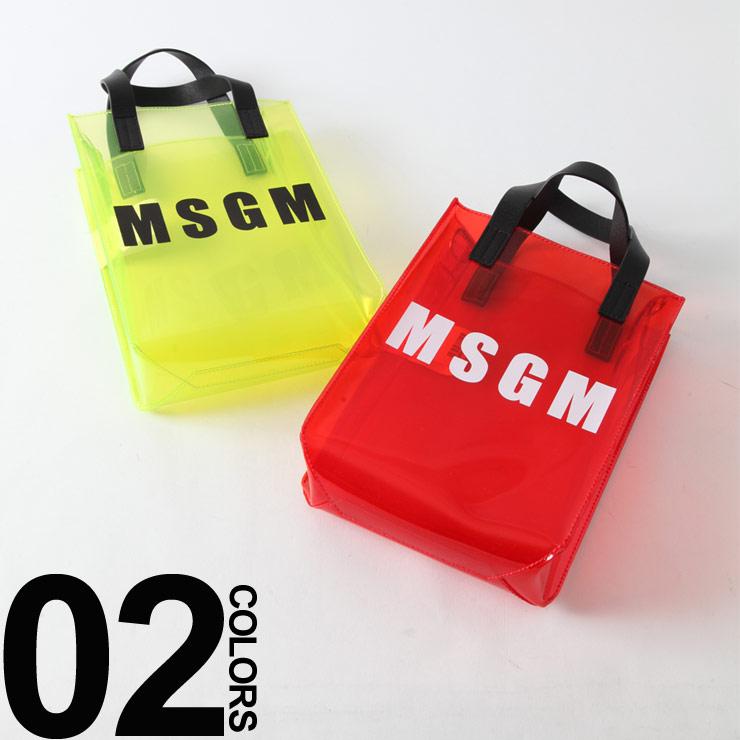 MSGM エムエスジーエム クリアビニール バッグ クリアバッグ MSL2441MDZ50