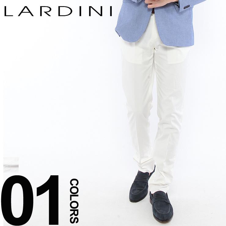 ラルディーニ LARDINI トラウザー コットンパンツ ホワイト ストレッチ メンズ ボトムス LDPARISR50217 ブランド