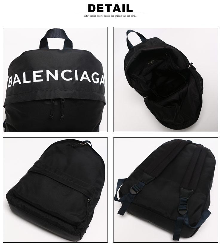 バレンシアガ BALENCIAGA バックパック ホイール ロゴ刺繍 ナイロン リュック デイパック ブランド メンズ レディーH9EDW2I